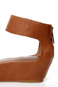 Matiko Angelica Cuoio Brown Leather Flatform Platform Sandals at Lulus.com!
