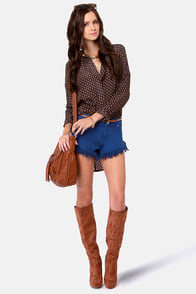 Insight Dipper Blue Moon Cutoff Jean Shorts at Lulus.com!