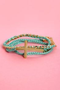 Who's the Cross Wrap Bracelet at Lulus.com!