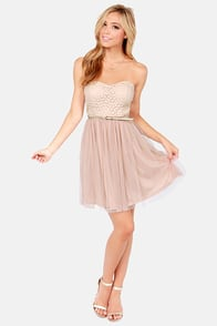 May I Have This Dance? Blush Pink Lace Dress at Lulus.com!