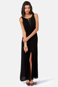However You Slice It Black Maxi Dress at Lulus.com!