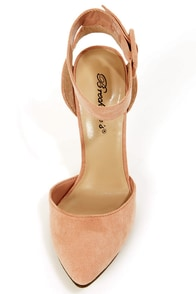 Mavis 03 Blush D'Orsay Pointed Heels at Lulus.com!