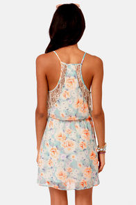 Rose With Everything Floral Print Lace Dress at Lulus.com!