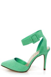 Mavis 03 Mint D'Orsay Pointed Heels