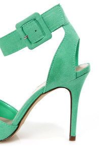 Mavis 03 Mint D'Orsay Pointed Heels at Lulus.com!