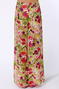 What in Carnation Wide-Leg Multi Floral Print Pants at Lulus.com!