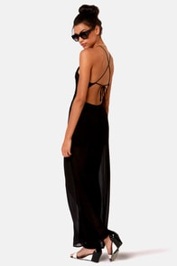 Livin' Large Backless Black Jumpsuit