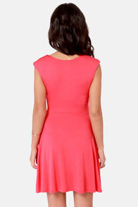 V-ing is Believing Coral Red Dress at Lulus.com!