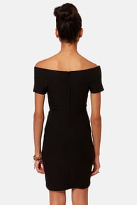 Meant to Be Off-the-Shoulder Black Dress at Lulus.com!