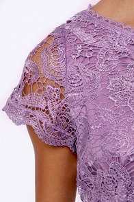 Genteel Breeze Backless Lavender Lace Dress at Lulus.com!