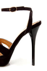 Cherry 2 Black Ruched Strappy Platform Dress Sandals at Lulus.com!