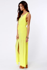 However You Slice It Yellow Maxi Dress at Lulus.com!