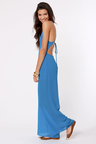 Livin' Large Backless Blue Jumpsuit at Lulus.com!