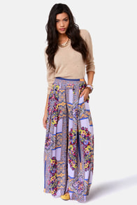 Mink Pink Distant Traveler Purple Print Wide-Leg Pants at Lulus.com!