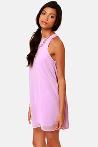 Chiff-On the Run Lavender Dress at Lulus.com!