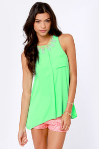 For the Win Mint Green Tank Top at Lulus.com!