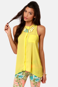 For the Win Yellow Tank Top at Lulus.com!