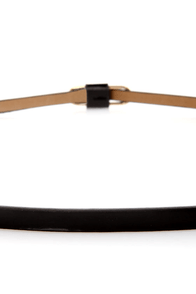 Vibe Black Skinny Belt at Lulus.com!