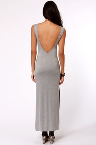 Maximum's the Word Grey Maxi Dress at Lulus.com!