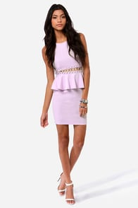 Waistin' Time Lavender Peplum Dress at Lulus.com!