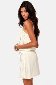 Romeo and Jewel-iet Beaded Ivory Dress at Lulus.com!
