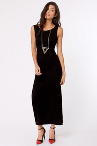 Maximum's the Word Black Maxi Dress at Lulus.com!