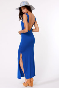 Maximum's the Word Blue Maxi Dress at Lulus.com!