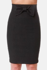 The Bow-ed and the Beautiful Black Pencil Skirt at Lulus.com!