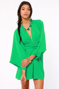 Blaque Label Rising Sun Green Dress at Lulus.com!