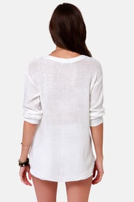 The Big Chill Ivory Sweater at Lulus.com!