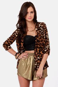 Costa Blanca Show Your Spots Leopard Print Blazer at Lulus.com!