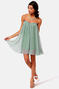 Blaque Label Anthology Strapless Dusty Blue Dress at Lulus.com!