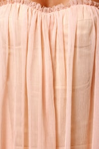 Blaque Label Anthology Strapless Peach Dress at Lulus.com!