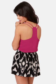 Costa Blanca Flutterby Berry Pink Tank Top at Lulus.com!