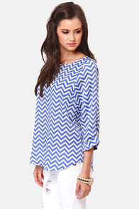 Fits and Squiggles Blue and White Striped Top at Lulus.com!