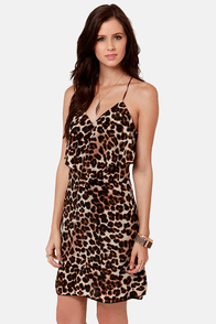 Costa Blanca Roxanne Racerback Leopard Print Dress at Lulus.com!