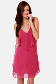 Costa Blanca Roxanne Racerback Berry Pink Dress at Lulus.com!