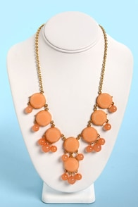 Bauble-y's World Peach Statement Necklace at Lulus.com!