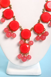 Bauble-y's World Coral Statement Necklace at Lulus.com!