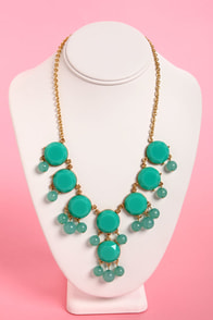 Bauble-y's World Teal Statement Necklace at Lulus.com!