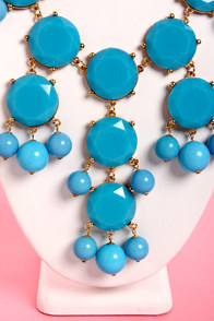 Bubble Bee Turquoise Blue Statement Necklace at Lulus.com!