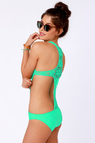 Beach Riot The Day Dreamer Sea Green One Piece Swimsuit at Lulus.com!