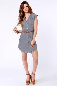 BB Dakota by Jack Adrienne Black and White Striped Dress at Lulus.com!