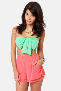 Havana Cabana Mint Green Bandeau Top