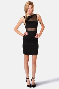From See to See Cutout Black Dress at Lulus.com!
