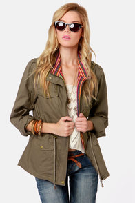 Ladakh Combat Olive Military Jacket at Lulus.com!
