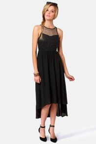 Ladakh Upstate Black High-Low Dress at Lulus.com!