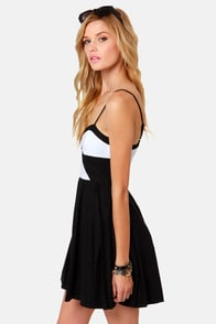 BB Dakota Gable Black and White Dress at Lulus.com!