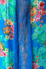 Mary Ann or Ginger? Blue Floral Print Maxi Skirt at Lulus.com!