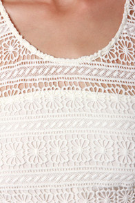 BB Dakota Jacynth Ivory Lace Dress at Lulus.com!